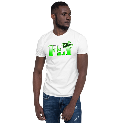 Fly Helicopters NVG Glow Short-Sleeve Unisex T-Shirt