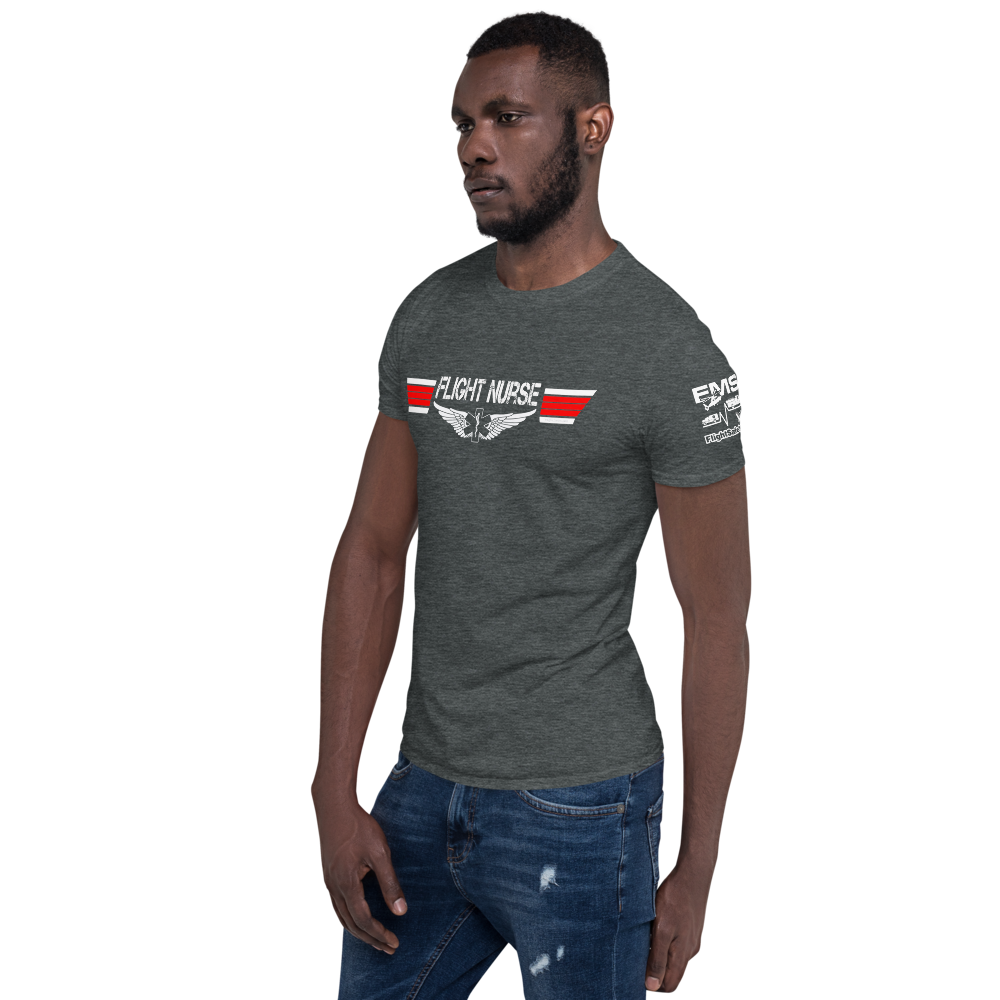 Flight Nurse - Top Gun Style EMS Wings - Short-Sleeve Unisex T-Shirt