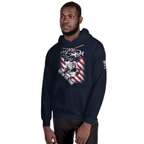 Firefighter Get In The Zone Unisex Hoodie - 2 Sided Print