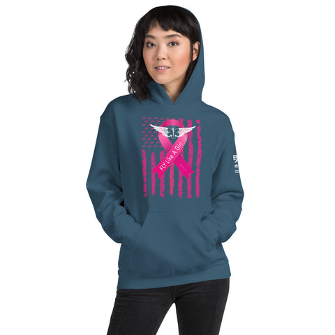 2019 Fly Like a Girl Breast Cancer Awareness Hoodie