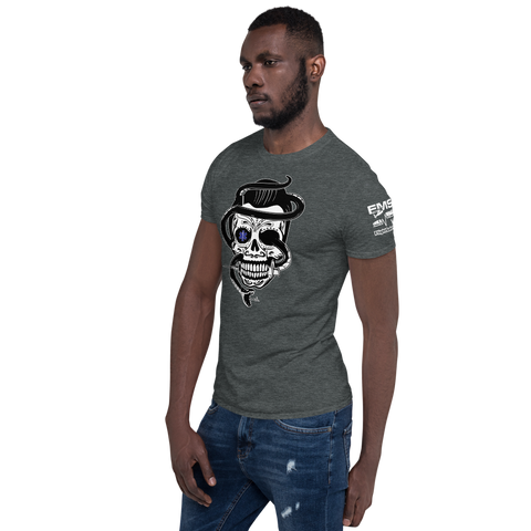 Star of Life Sugar Skull, Snake & Syringe Short-Sleeve Unisex T-Shirt