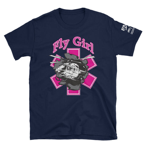 Fly Girl EMS Helicopter Breakout Short-Sleeve T-Shirt