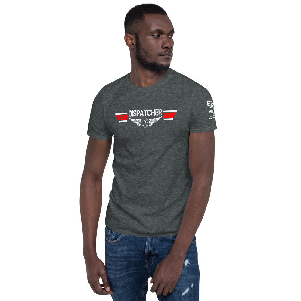 Dispatcher Top Gun Style EMS Wings - Short-Sleeve Unisex T-Shirt