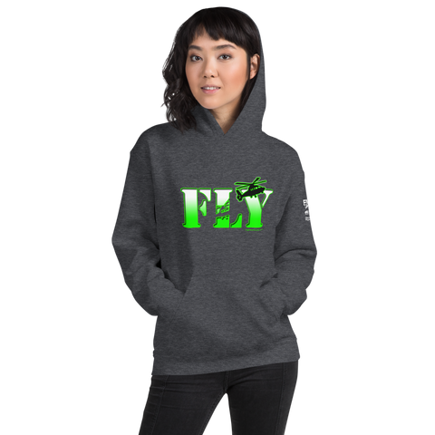 Fly Helicopters NVG Glow Unisex Hoodie