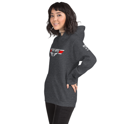 Flight Nurse - Top Gun Style EMS Wings - Short-Sleeve Unisex Hoodie
