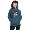 Image of Star of Life Sugar Skull, with Elvis Hair, Snake & Syringe Unisex Hoodie