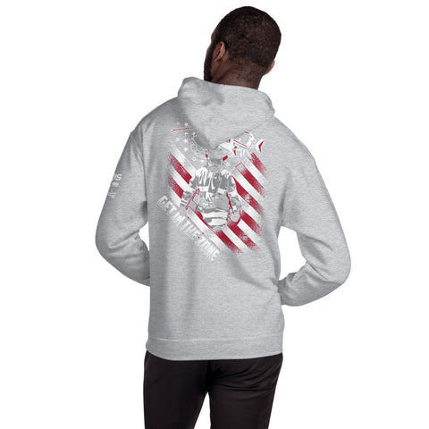 Firefighter Pride Get In the Zone Unisex Hoodie 3-Sided Print