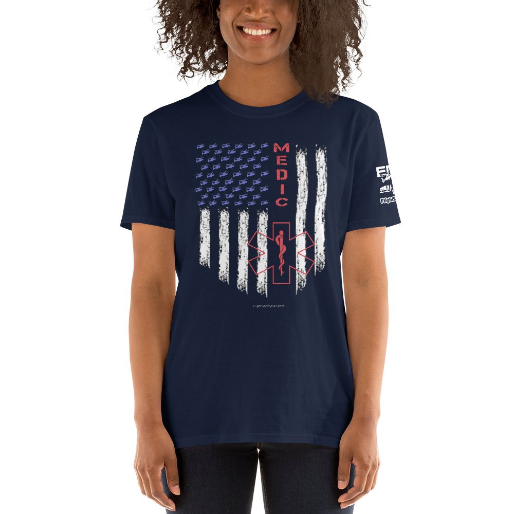 Paramedic American Pride Short-Sleeve Unisex T-Shirt