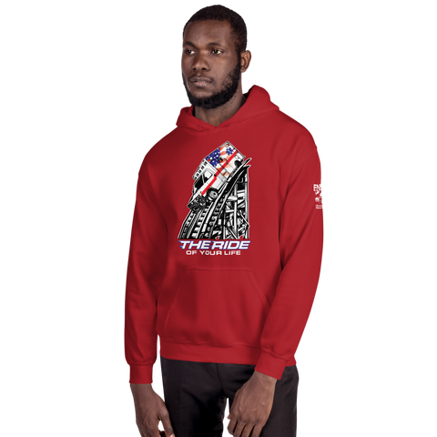 The Ride of Your Life Ambulance Roller Coaster Unisex Hoodie
