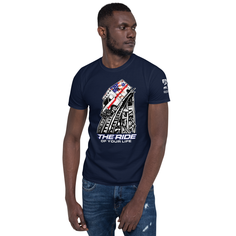 The Ride of Your Life Ambulance Roller Coaster Short-Sleeve Unisex T-Shirt