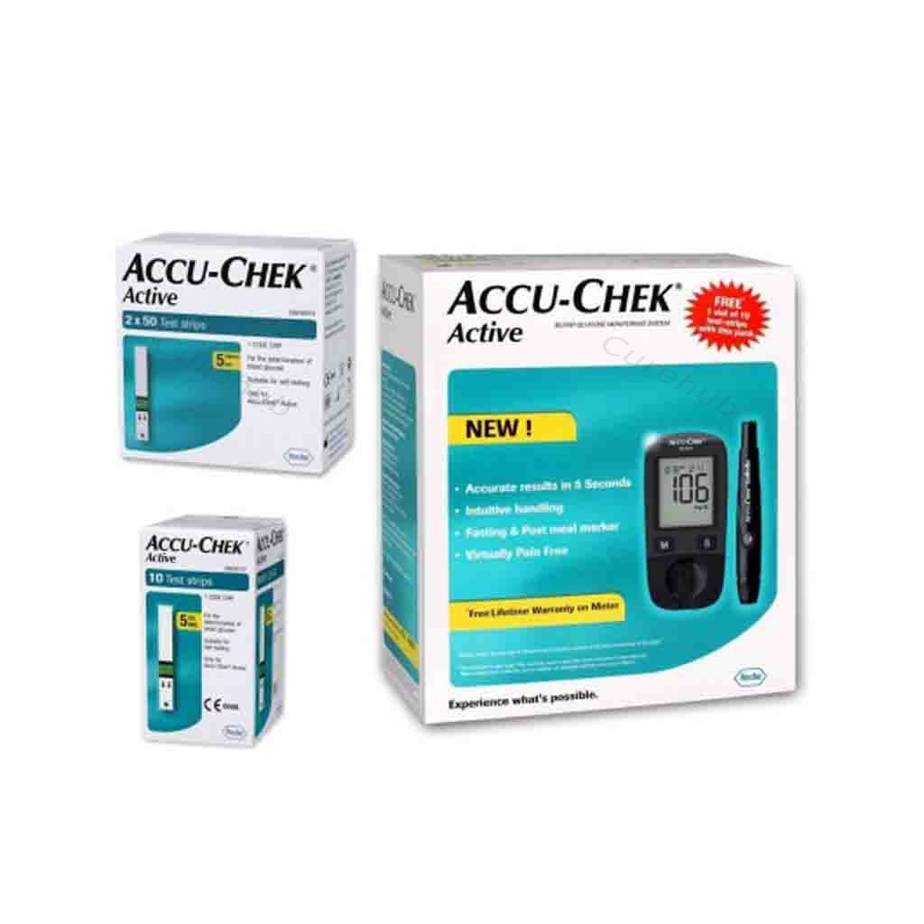 Accu Chek Active Glucose Monitor with 110 Strips Glucometer