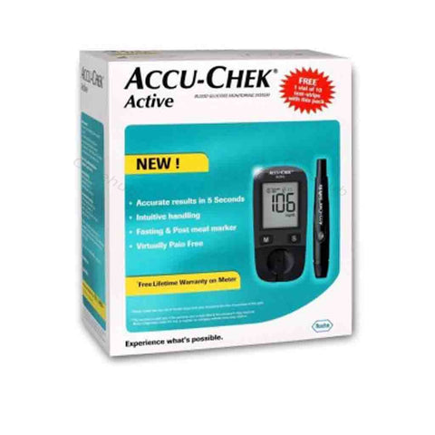 Accu Chek Active Glucose Monitor with 60 Strips Glucometer