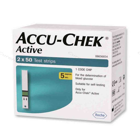 Accu Chek Active 100 Strips ( Expiry Sep 2018)