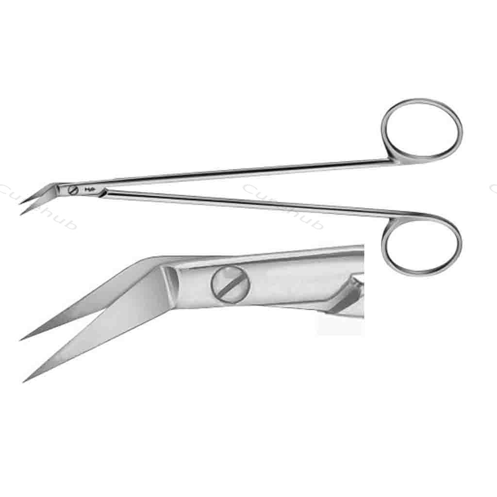 SISCO Potts Smith Vessel Scissors Angled On Flat 55deg BSC351