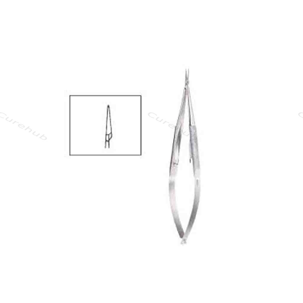 SISCO Barraquer Micro Needle Holder Straight With Catch NMH232