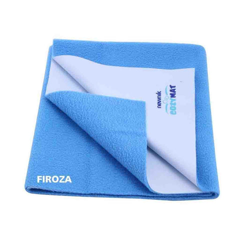 Cozymat - Soft, Waterproof & Reusable Fabric (Size: 140cm X 220cm) Firoza, Sb