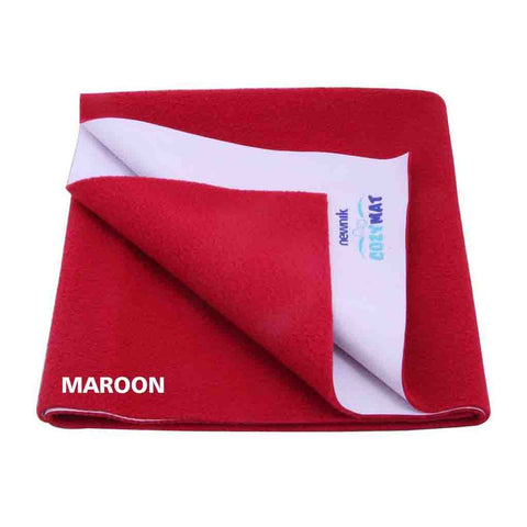 Cozymat - Soft, Waterproof & Reusable Fabric (Size: 140cm X 100cm) Maroon, L