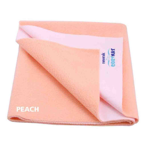 Cozymat - Soft, Waterproof & Reusable Fabric (Size: 140cm X 220cm) Peach, Sb