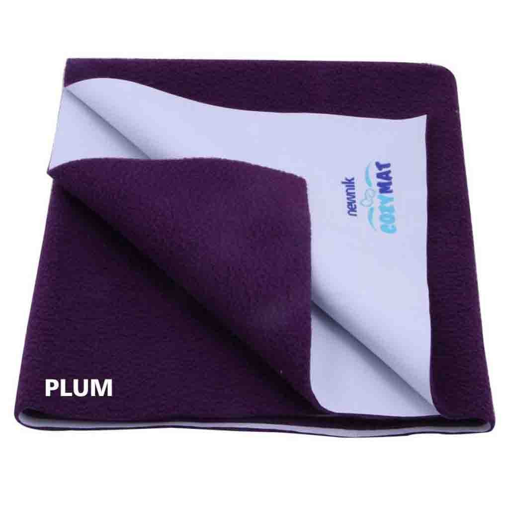 Cozymat - Soft, Waterproof & Reusable Fabric (Size: 140cm X 220cm) Plum, Sb