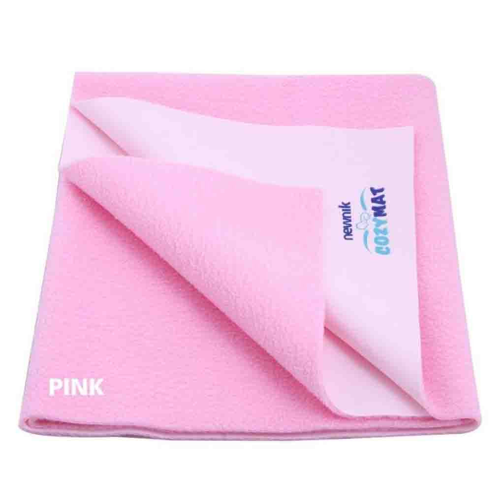 Cozymat Soft, Waterproof & Reusable Fabric (Size: 200cm X 260cm) Pink
