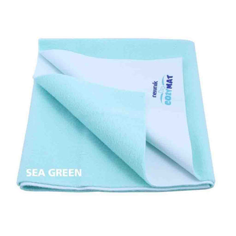 Cozymat - Soft, Waterproof & Reusable Fabric (Size: 140cm X 220cm) Sky Blue, Sb