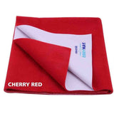 Cozymat Soft, Waterproof And Reusable Fabric Large (Cherry Red)