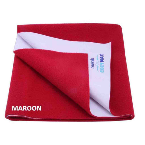 Cozymat - Soft, Waterproof & Reusable Fabric (Size: 140cm X 220cm) Maroon, Sb