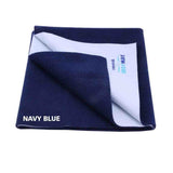 Cozymat Soft, Waterproof And Reusable Fabric Medium - Navy Blue