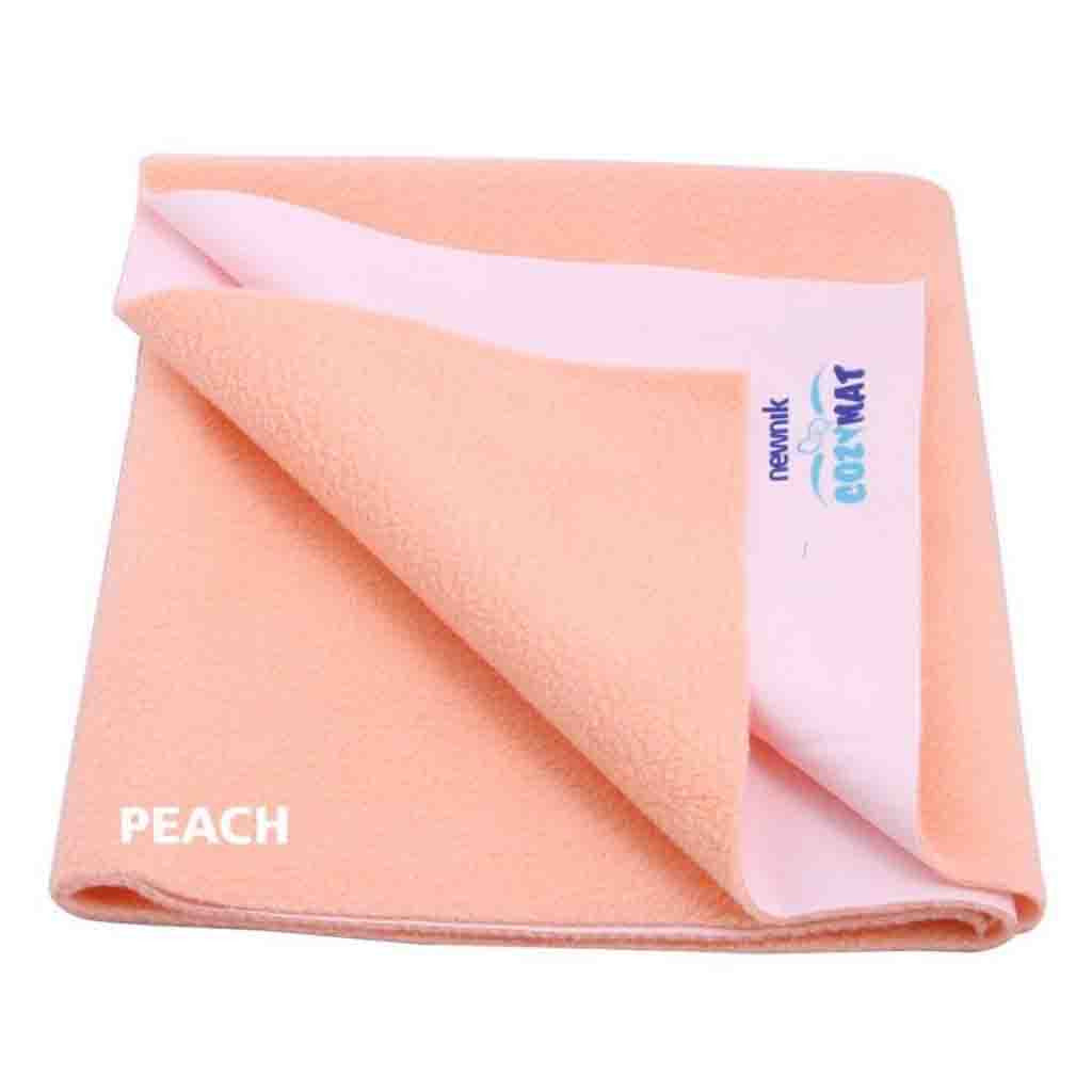 Cozymat Soft Waterproof And Reusable Fabric, Peach, Db (Size: 200cm X 260cm)