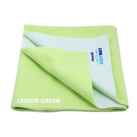Cozymat - Soft, Waterproof & Reusable Fabric (Size: 140cm X 220cm) Lemon Green, Sb