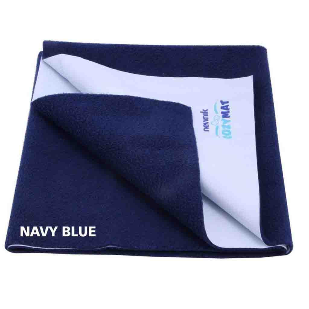 Cozymat - Soft, Waterproof & Reusable Fabric (Size: 200cm X 260cm) Navy Blue, Db