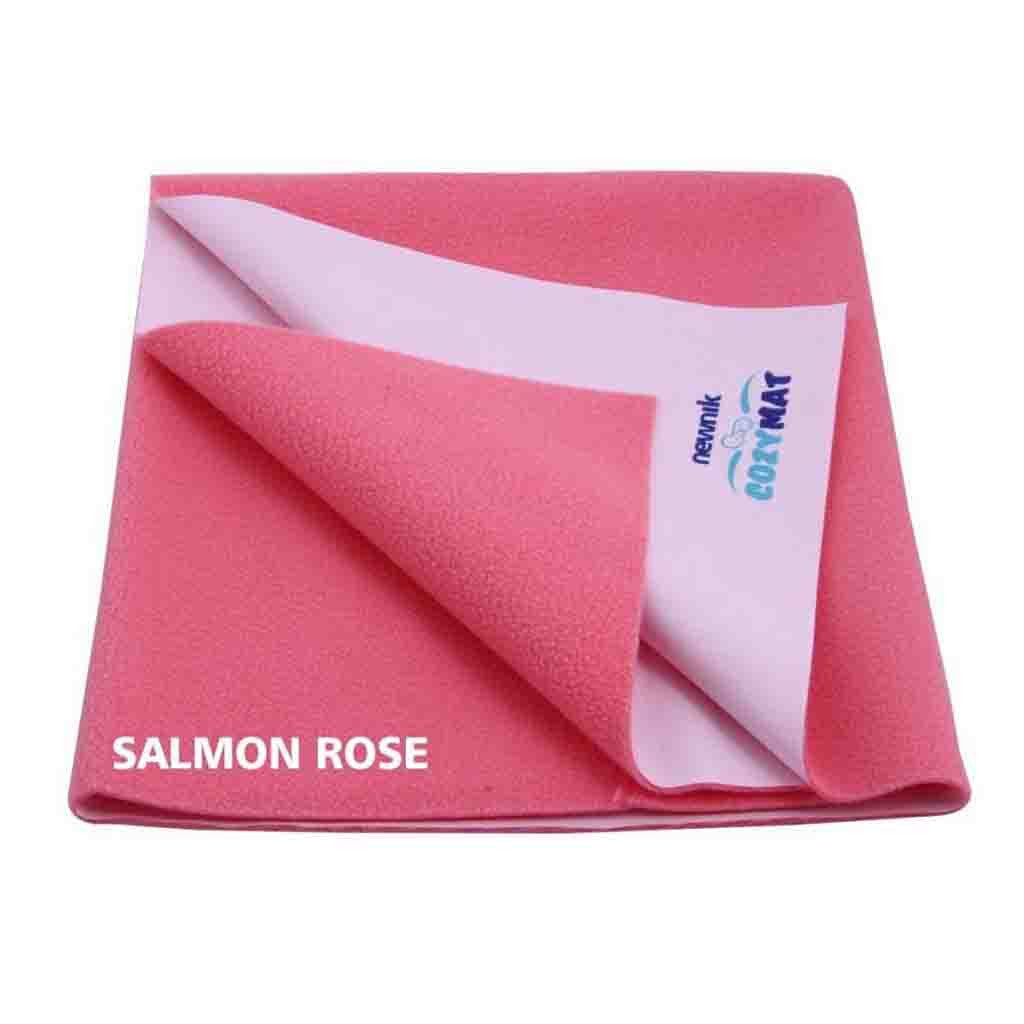 Cozymat Soft, Waterproof And Reusable Fabric Small - Salmon Rose