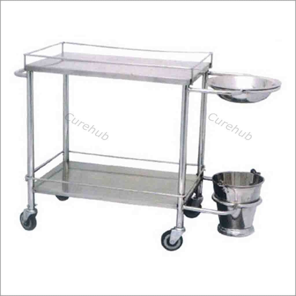Dressing Trolley with Bowl & Bucket, BE09