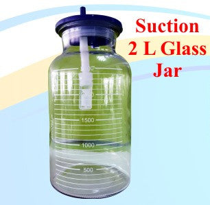 Suction 2 Liter Glass Jar Without Cap