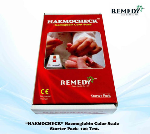 Haemocheck Haemoglobin Color Scale Starter Kit 100T