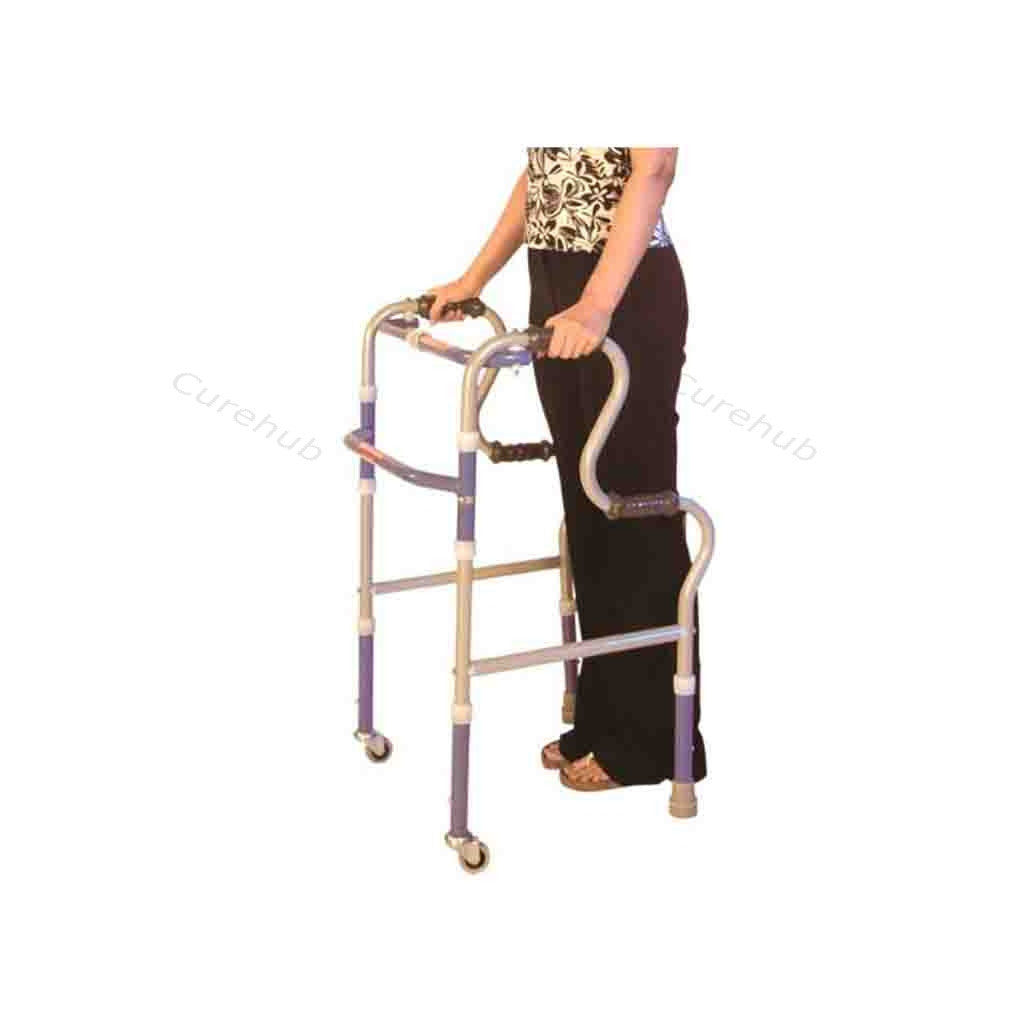 Universal Invalid Step Adj. Folding Walker Castor 0940