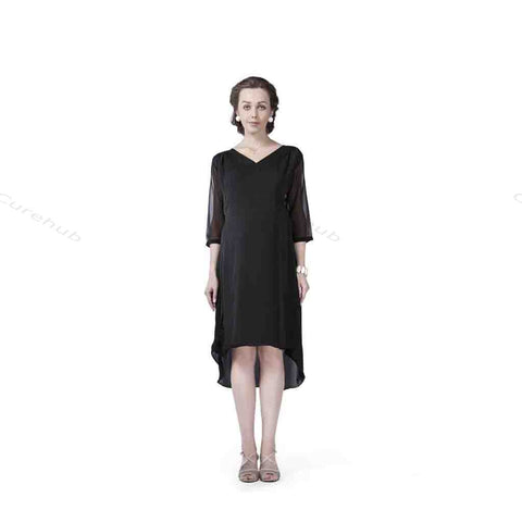 Radiation Safe Balloon Overlap Tunic Black