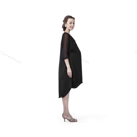 Radiation Safe Balloon Overlap Tunic Black(5pcs)