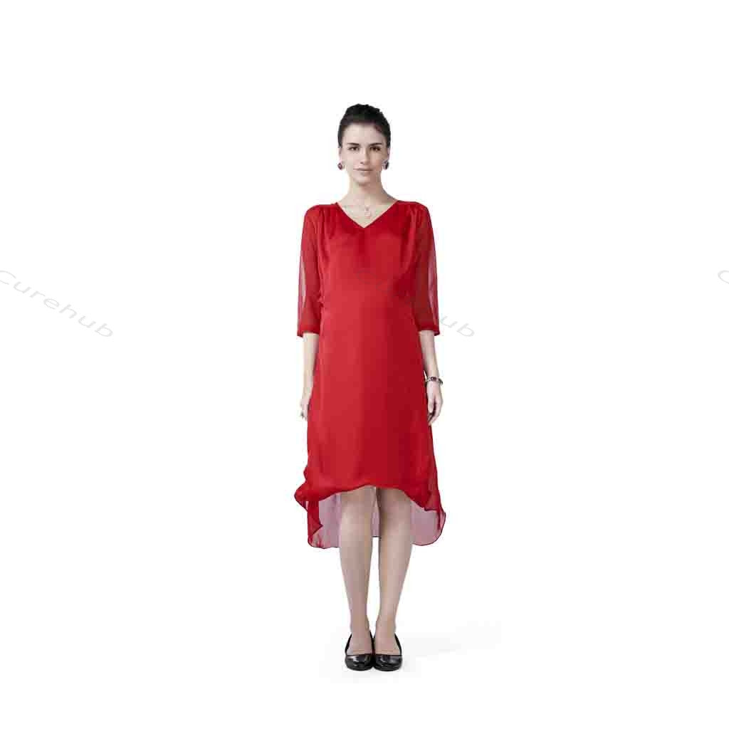 Radiation Safe Balloon Overlap Tunic Red(5pcs)