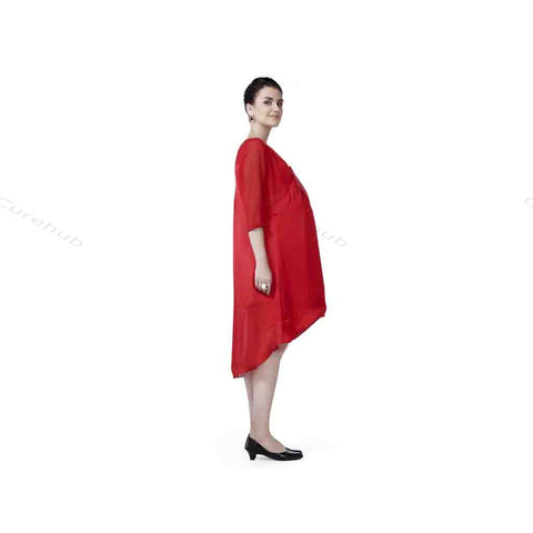 Radiation Safe Balloon Overlap Tunic Red