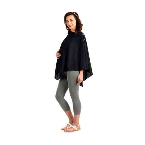 Radiation Safe-House of Napius- Poncho cowl neck tunic Black Free Size
