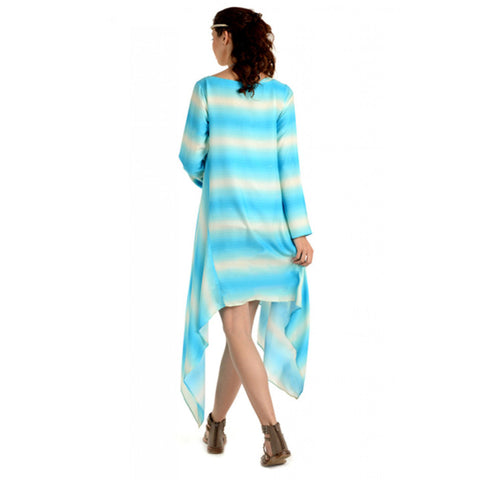 Radiation Safe-House of Napius- Long Dress With Assymmetrical Bottom Blue