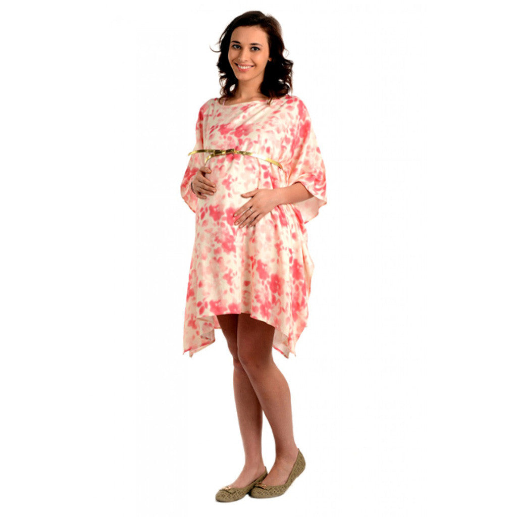 Radiation Safe- Comfortable round neck maternity dress FS
