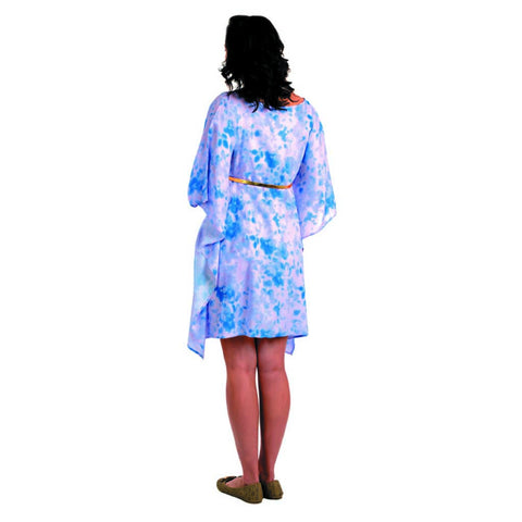 Radiation Safe-House of Napius Floral Kafthan Dress Hawaiian Ocean Blue And White Free Size