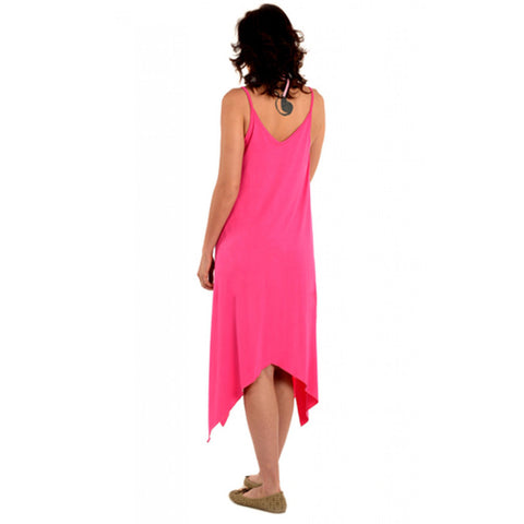 Radiation Safe-House Of Napius Maternity Printed Maxi Tank Dress Asymmetrical Cut Pink