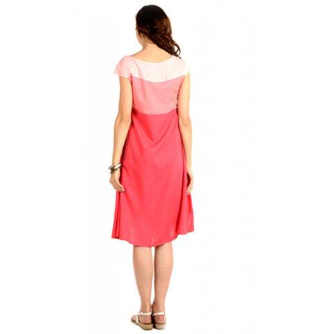 Radiation Safe-House Of Napius Maternity Knee length dress Pink