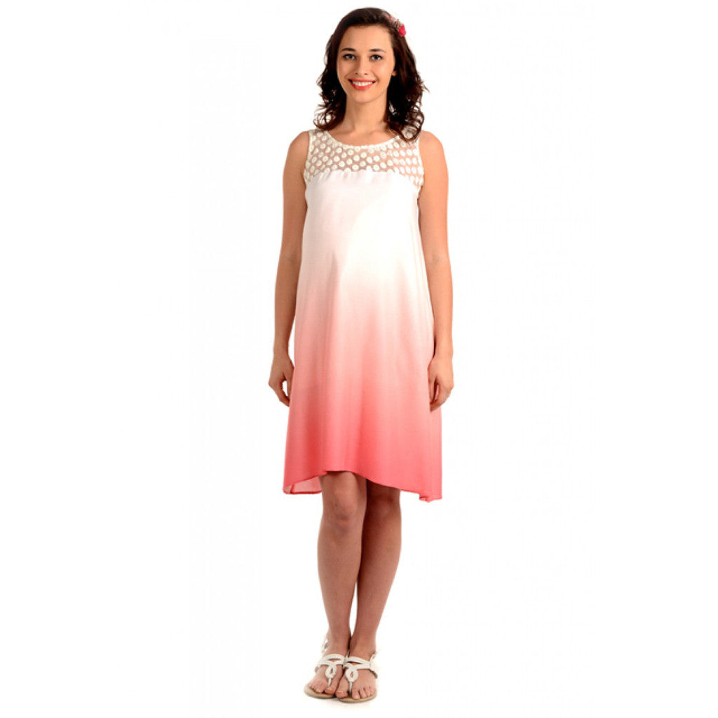 ebcff93c854 Buy Curehub Radiation Safe-House Of Napius Maternity Ombre Summer Dress -  Rouge Red -M for Maternal Care