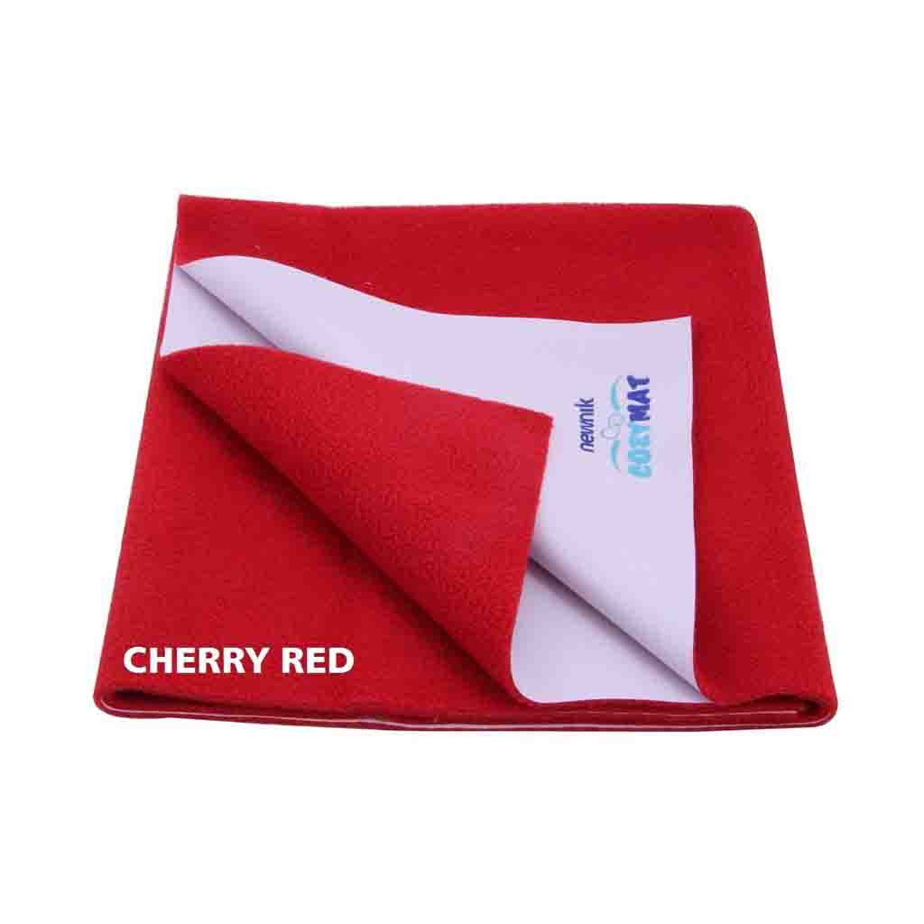 Newnik Reusable Absorbent Sheets/Underpads - (Size: 70cm X 50cm) Cherry Red, S
