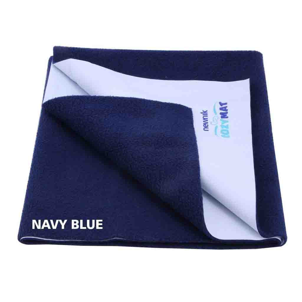 Newnik Reusable Absorbent Sheets/Underpads - (Size: 70cm X 100cm) Navyblue,M