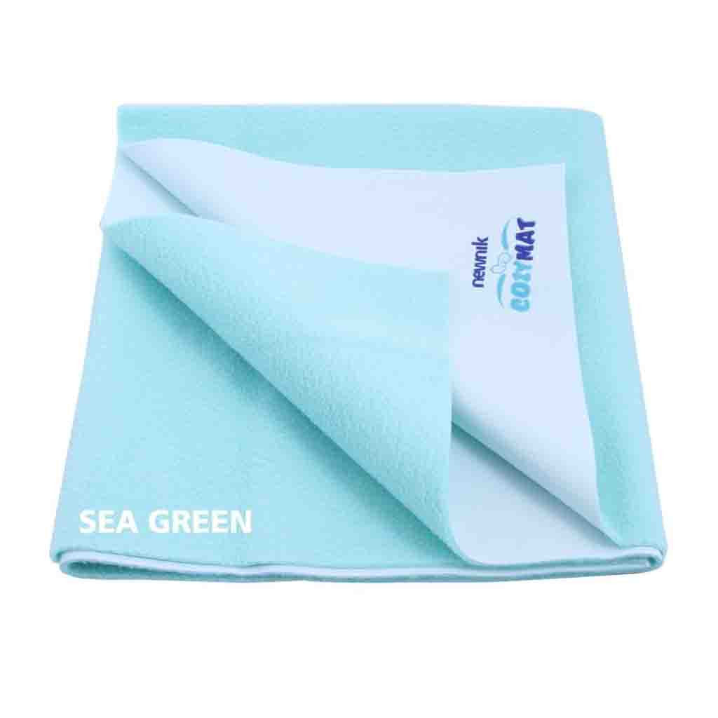 Newnik Cozymat Reusable Absorbent Sheets / Underpads - (Size: 140cm X 100cm)  Sea Green, L